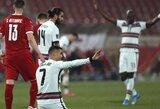 Pasaulio čempionato atranka: dviejų įvarčių pranašumą iššvaisčiusi Portugalija baigė rungtynes su Serbija lygiosiomis
