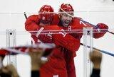 Rusai olimpiadoje įtikinamai nugalėjo JAV ledo ritulio rinktinę ir pirmieji pateko į ketvirtfinalį