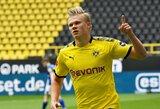 """""""Bundesliga"""" čempionato sugrįžimas paženklintas triuškinama """"Borussia"""" pergale"""