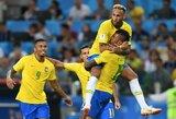 Techniškas Paulinho įvartis per vartininką pasiuntė Braziliją į aštuntfinalį