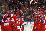 Trečiajame kėlinyje išsigelbėjusi Rusijos ledo ritulio rinktinė po baudinių serijos įveikė švedus, suomiai iššvaistė 3 įvarčių persvarą