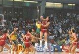 """Pasaulio taurės istoriniai momentai –įspūdingiausias sugrįžimas su A.Saboniu, JAV """"Svajonių komanda"""", Graikijos išsišokimas ir ispanų tragedija"""