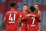 """4 įvarčius pelnęs R.Lewandowskis 93-iąją minutę išplėšė """"Bayern"""" pergalę prieš """"Hertha"""""""