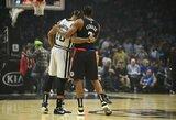 """K.Leonardas privertė """"Spurs"""" patirti pirmąją nesėkmę"""