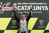 Barselonoje – V.Rossi ir A.Dovizioso kritimai bei F.Quartararo pergalė