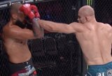 """Pamatykite: prieš iki tol nenugalėtą varžovą dominavusio J.Anglicko kovos """"Bellator"""" turnyre vaizdo įrašas"""