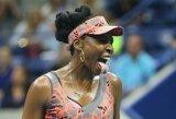 """""""US Open"""" trileryje – 37-erių metų V.Williams pergalė ir 23 """"Didžiojo kirčio"""" pusfinalis"""