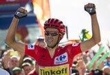 """A.Contadoras laimėjo dvidešimtą """"Vuelta a Espana"""" lenktynių etapą ir praktiškai užsitikrino čempiono titulą"""