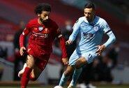 """""""Burnley"""" išplėšė su """"Liverpool"""" vieną tašką ir nutraukė įspūdingą varžovų seriją"""