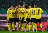 """J.Sancho pelnytas įvartis atvėrė """"Borussia"""" ekipai kelią į """"DFB Pokal"""" taurės pusfinalį"""