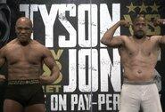Įvyko akistata ir svėrimai: M.Tysono svoris nesiekė nei 100kg, R.Jonesas buvo 4 kg lengvesnis