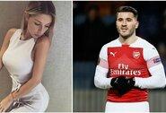 """""""Arsenal"""" žaidėjo žmona sulaikyta oro uoste – rastas nelegalus ginklas"""