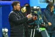 """D.Simeone nepatenkintas """"Atletico"""" žaidimu: """"Mes grįžtame prie blogų įpročių"""""""
