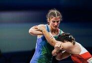D.Domikaitytei pasaulio imtynių čempionatas baigėsi po pirmosios kovos