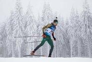 Sezono rekordą pasiekę biatlonininkai atrankoje į Pekino olimpines žaidynes žengia 16-ti