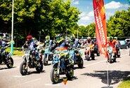 """Elektrėnuose – ekstremalus """"Supermoto"""" išbandymas motociklininkams: net čempionas D.Diraitis neišvengė griuvimo"""