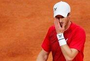 """""""Roland Garros"""" starte sutriuškintas A.Murray'us: """"Tai turbūt didžiausias karjeros pralaimėjimas """"Didžiojo kirčio"""" turnyre"""""""