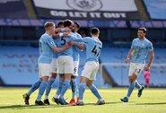 """Ir toliau nesustabdomi:  """"Man City"""" iškovojo """"Premier"""" lygoje keturioliktąją pergalę iš eilės"""