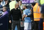 """P.Guardiola paneigė ginčus su S.Aguero: """"Aš jį labai myliu"""""""