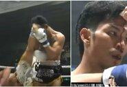 Pamatykite: T.Nasukawa neįtikėtinu smūgiu kulnu prakirto varžovui kaktą ir žengė į finalą