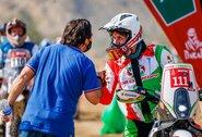 Dakaro finišą aptemdė tragedija: 7greičio ruože kritęs motociklininkas pralaimėjo kovą dėl gyvybės