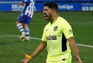 """L.Suarezas 89-ąją minutę išplėšė """"Atletico"""" pergalę"""