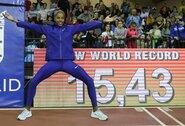 Trišuolininkė Y.Rojas pagerino 16 metų gyvavusį pasaulio rekordą