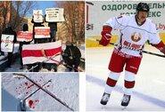 Baltarusiai surengė protestą dėl pasaulio ledo ritulio čempionato rengimo, IIHF rizikuoja prarasti pagrindinius rėmėjus