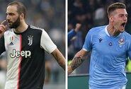"""""""Juventus"""" ir """"Lazio"""" netektys: treniruočių metu susižeidė G.Higuainas ir S.Milinkovičius-Savičius"""