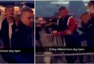 Pamatykite: E.Haalandas išvarytas iš naktinio klubo Norvegijoje?