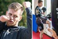 Stiprybės ir charakterio pavyzdys: be rankos gimęs M.Šoliūnas savęs ieško ringe