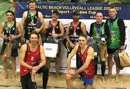Baltijos veteranų paplūdimio tinklinio lygoje pirmauja Vilniaus komandos