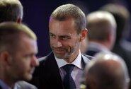 """VAR smarkiai sukritikavęs UEFA prezidentas A.Čeferinas pripažįsta: """"Kelio atgal nėra"""""""