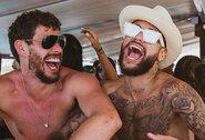 """Neymaro vakarėlyje – šokiai ant stalo rusiškos dainos """"Kaifuojam"""" ritmu"""