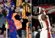 Dublį pelnęs A.Griezmannas įkvėpimo švęsti įvarčius sėmėsi iš NBA žvaigždės L.Jameso
