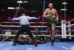 Įspūdingoje kovoje du kartus per raundą po nokdaunų kilęs T.Fury nokautavo D.Wilderį ir išsaugojo WBC sunkiasvorių čempiono titulą!