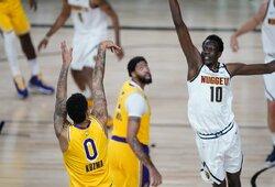"""K.Kuzma paskutinę sekundę nutraukė """"Lakers"""" nesėkmių seriją"""