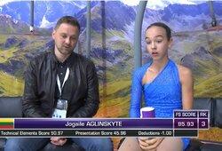 J.Aglinskytė sėkmingai baigė dailiojo čiuožimo varžybas Prancūzijoje