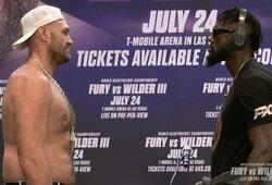 Pirmasis D.Wilderio ir T.Fury susitikimas prieš trečią kovą: buvęs čempionas pasakė vieną sakinį, akistata truko daugiau nei 6 minutes