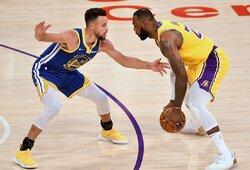"""L.Jamesas: """"Curry yra šio sezono MVP"""""""