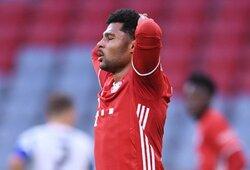 """""""Bayern"""" Čempionų lygoje versis be S.Gnabry: futbolininkas užsikrėtė koronavirusu"""