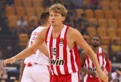 """M.Kuzminskas svariai prisidėjo prie """"Olympiacos"""" pergalės"""