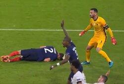 UEFA įtaria, kad Prancūzijos rinktinė galėjo pažeisti susitarimą: B.Pavardas po sąmonės praradimo tęsė rungtynes