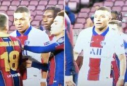 """Dar vienas iššifruotas pokalbis PSG ir """"Barcelona"""" rungtynėse: K.Mbappe ir J.Alba įsivėlė į rimtą ginčą"""