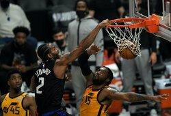 """Įspūdingai įdėjęs K.Leonardas su """"Clippers"""" šventė pergalę"""