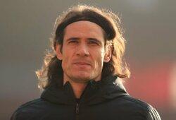 """Už žinutę """"instagram"""" tinkle E.Cavani gresia trejų rungtynių diskvalifikacija"""