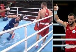 Olimpiniame bokso turnyre – brutalus nokautas