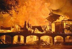 Siaubingame gaisre supleškėjo milijonus kainavę golfo žvaigždės namai