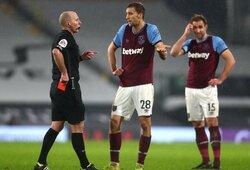 """Anglijos """"Premier"""" lygos 23-iasis turas: """"absurdiška"""" raudona kortelė, sugrįžęs """"Tottenham"""" pergalės garantas ir 100-asis įvartis"""