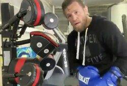 """Fanai sunerimo, pamatę naujausią C.McGregoro treniruotę: """"Toli iki Tysono"""""""